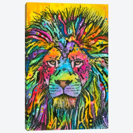 Lion Good Canvas Print #DRO121} by Dean Russo Canvas Art