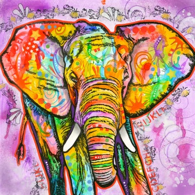 Elephant canvas wall art by dean russo icanvas for What kind of paint to use on kitchen cabinets for animal print canvas wall art