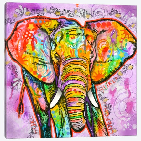 Elephant Canvas Print #DRO125} by Dean Russo Canvas Print