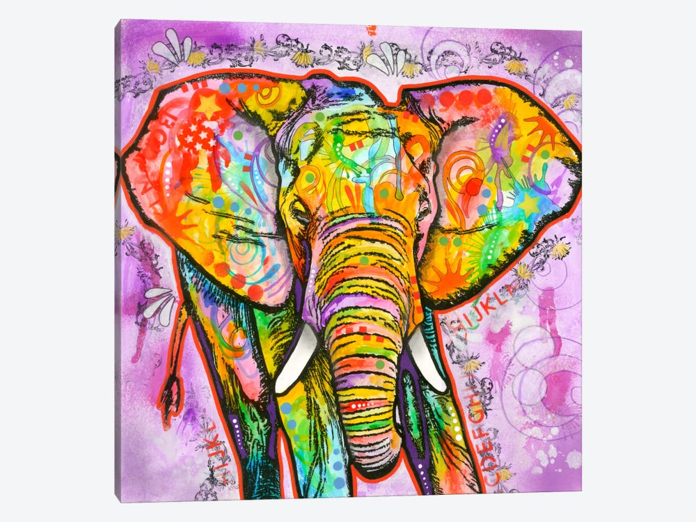 Elephant by Dean Russo 1-piece Canvas Print