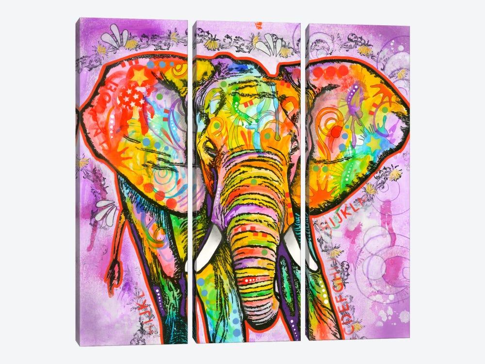 Elephant by Dean Russo 3-piece Canvas Art Print