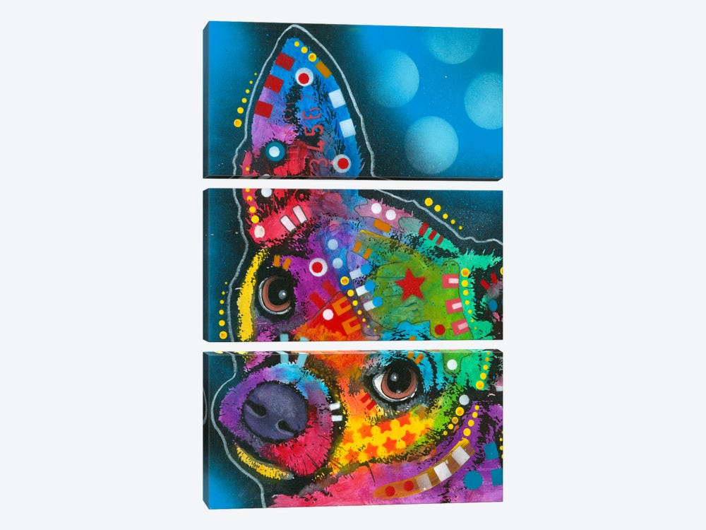 Pop Chihuahua by Dean Russo 3-piece Canvas Artwork