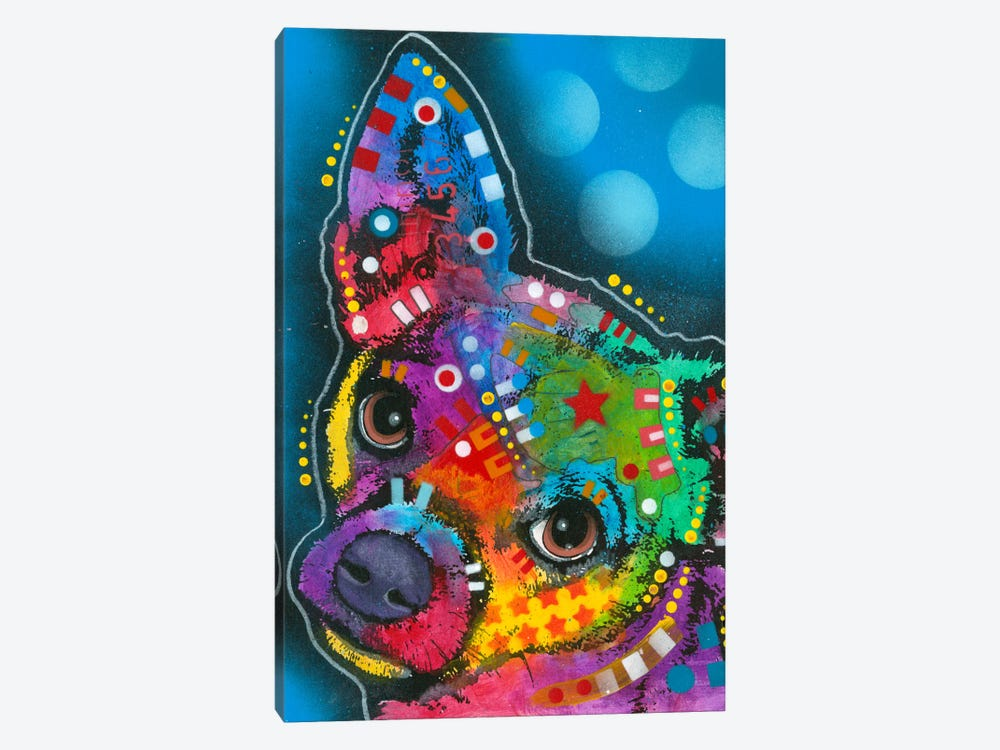 Pop Chihuahua by Dean Russo 1-piece Canvas Wall Art