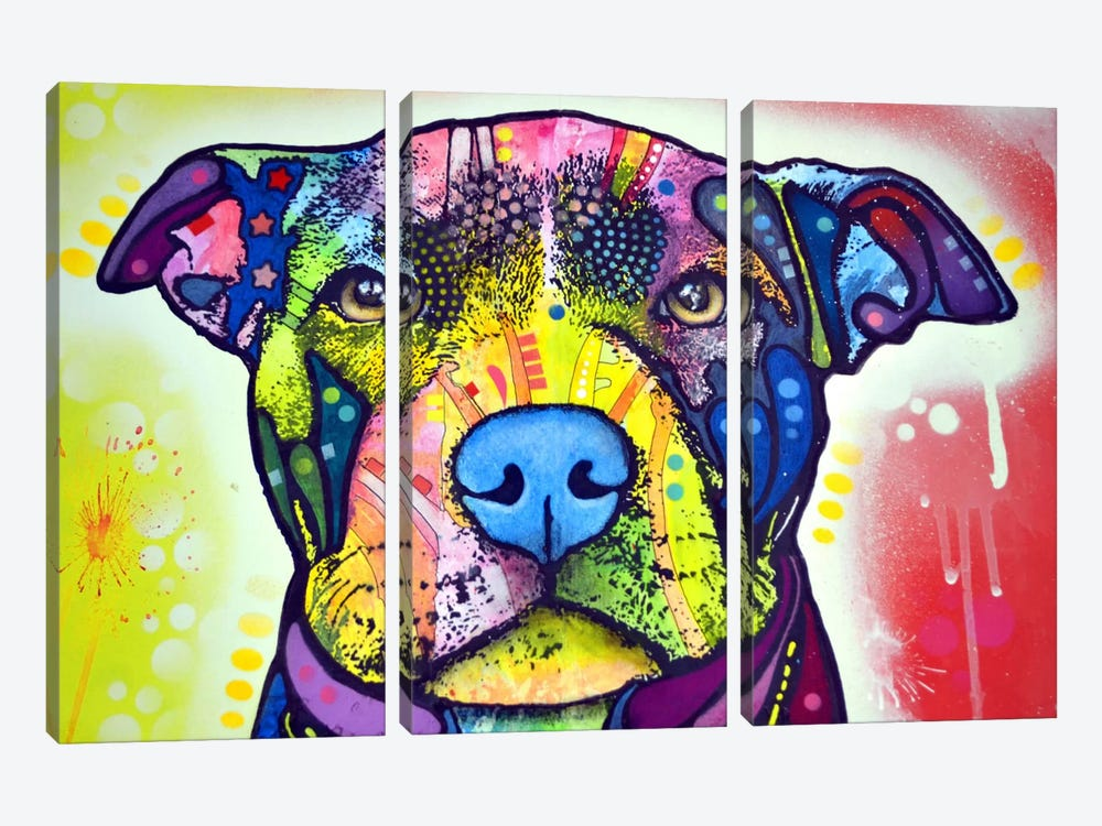 Love A Bull This Years Love by Dean Russo 3-piece Canvas Wall Art