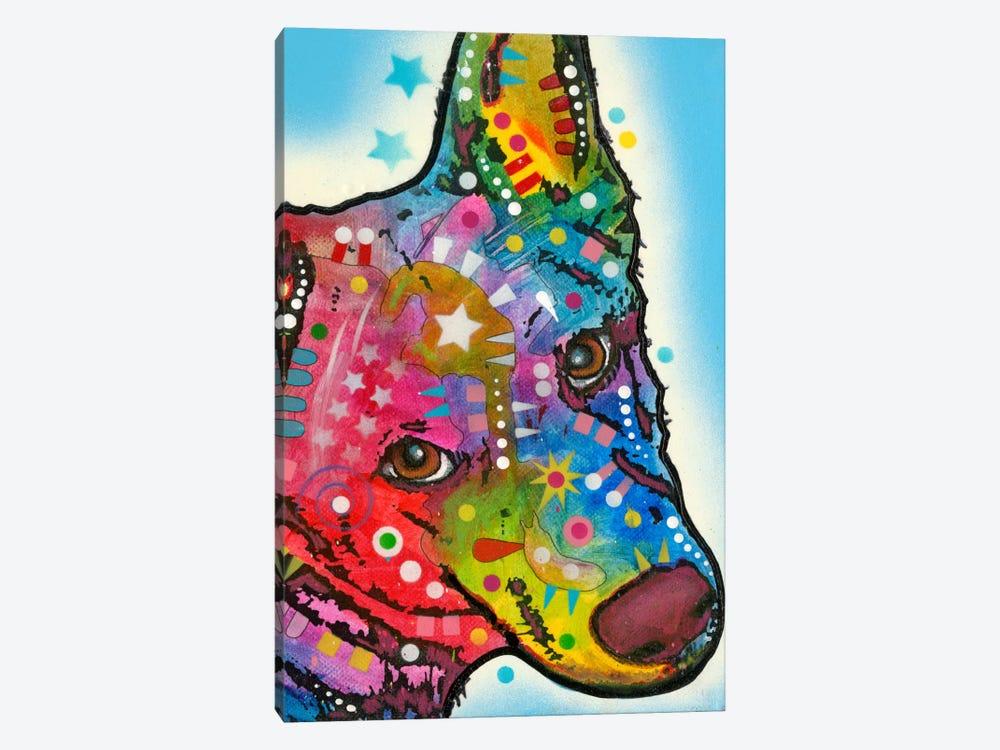 Aussie Sheep Dog by Dean Russo 1-piece Canvas Print
