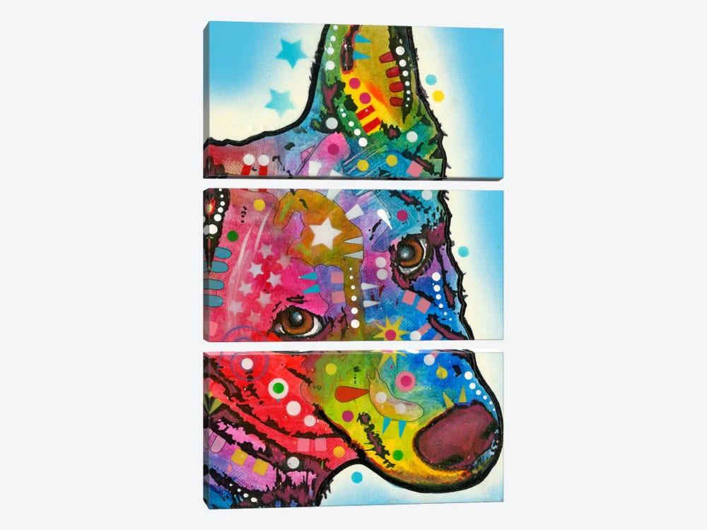 Aussie Sheep Dog by Dean Russo 3-piece Canvas Print