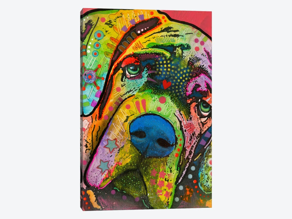 Mastiff by Dean Russo 1-piece Canvas Artwork