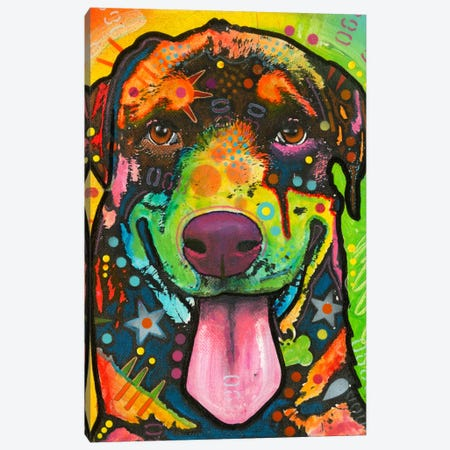Rottie Pup Canvas Print #DRO134} by Dean Russo Canvas Art