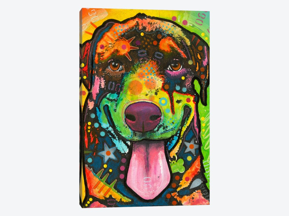 Rottie Pup by Dean Russo 1-piece Art Print