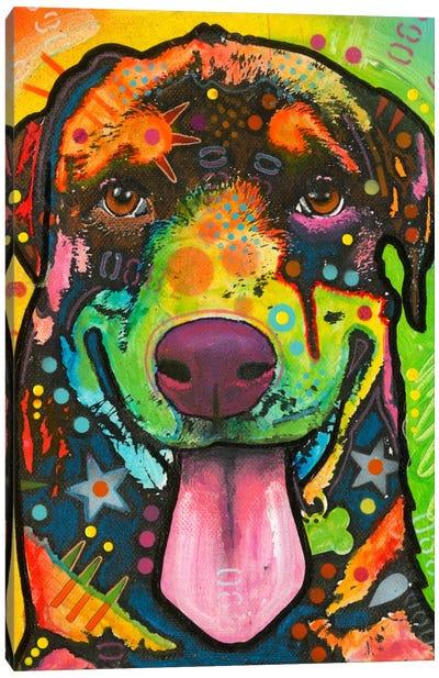 Rottie Pup Canvas Art Print