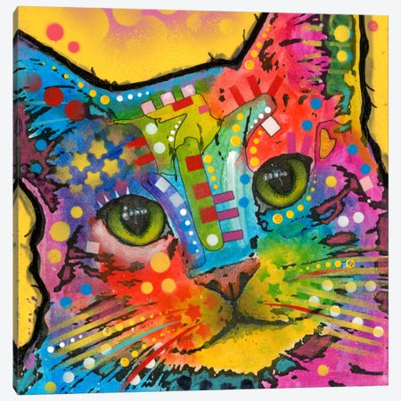 Tilt Cat Canvas Print #DRO135} by Dean Russo Canvas Art