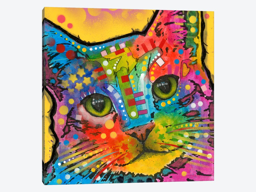 Tilt Cat by Dean Russo 1-piece Canvas Art