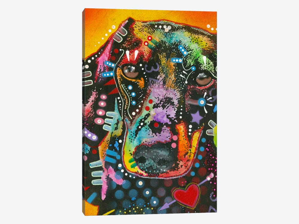Brilliant Dachshund by Dean Russo 1-piece Canvas Print