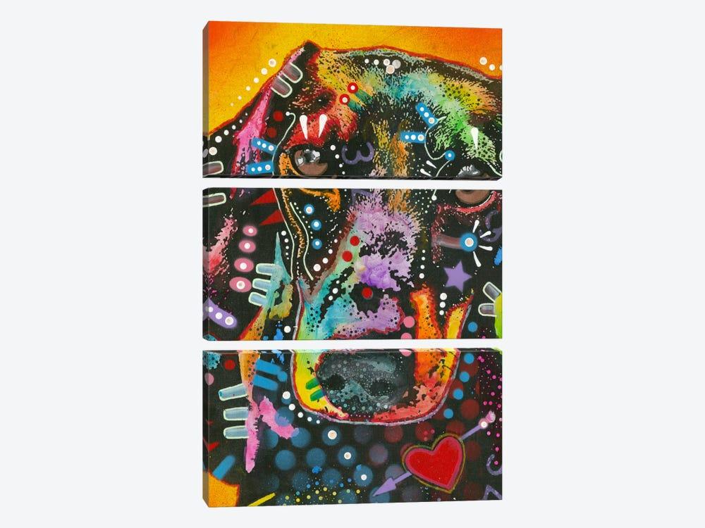 Brilliant Dachshund by Dean Russo 3-piece Canvas Print