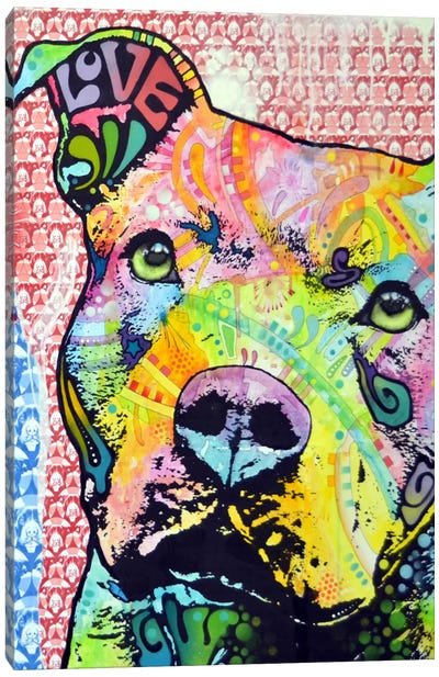 Thoughtful Pit Bull This Years Canvas Print #DRO13