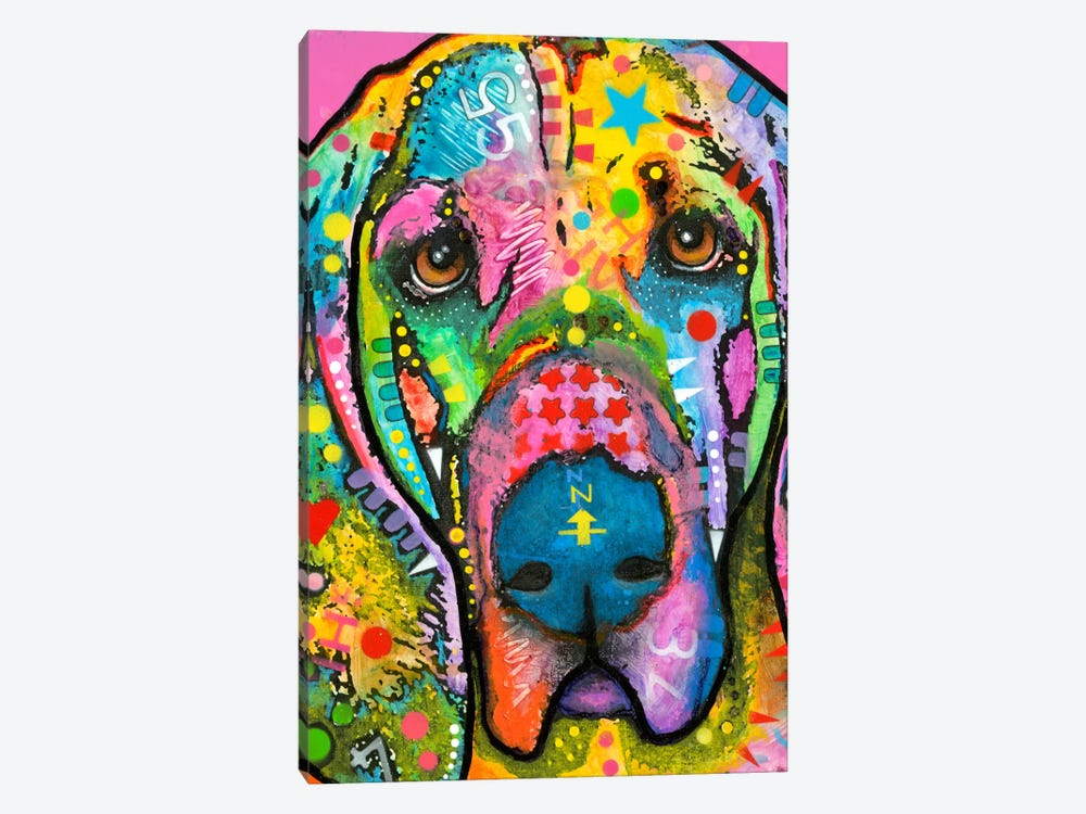 Bloodhound by Dean Russo 1-piece Canvas Art