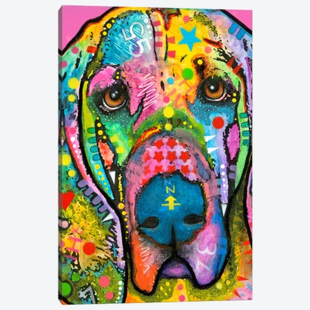 Bloodhound Canvas Print #DRO142} by Dean Russo Canvas Art