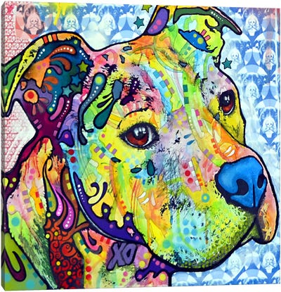 Thoughtful Pit Bull This Years I by Dean Russo Canvas Art