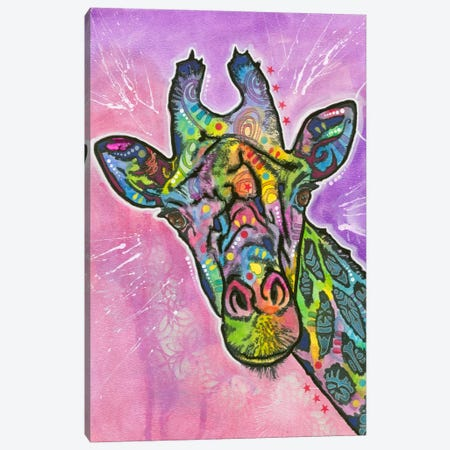 Giraffe Canvas Print #DRO153} by Dean Russo Canvas Art Print