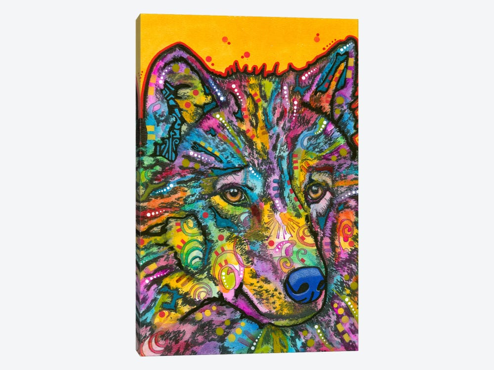 Wolf II by Dean Russo 1-piece Canvas Art Print