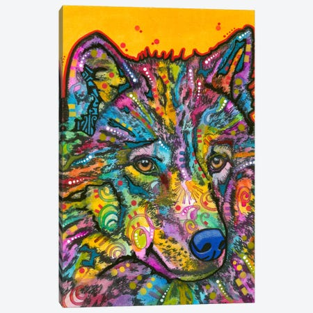Wolf II Canvas Print #DRO154} by Dean Russo Canvas Artwork