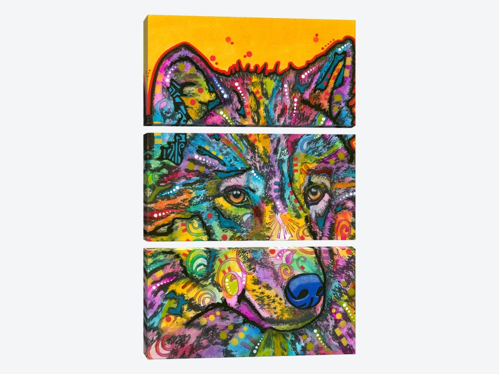 Wolf II by Dean Russo 3-piece Canvas Print