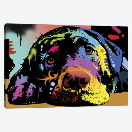 Lying Lab Canvas Print #DRO155} by Dean Russo Canvas Artwork