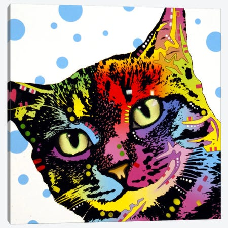 The Pop Cat Canvas Print #DRO156} by Dean Russo Canvas Artwork