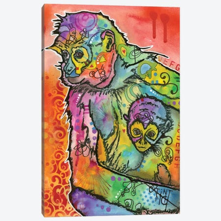 Monkey I Canvas Print #DRO157} by Dean Russo Canvas Wall Art