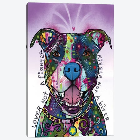 Lover Not A Fighter, Kisser Not A Biter Canvas Print #DRO163} by Dean Russo Canvas Wall Art