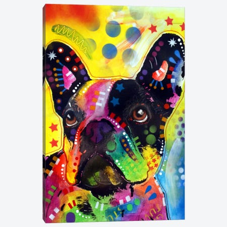 French Bulldog II Canvas Print #DRO16} by Dean Russo Canvas Artwork