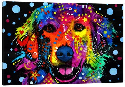 Golden Retriever by Dean Russo Canvas Wall Art