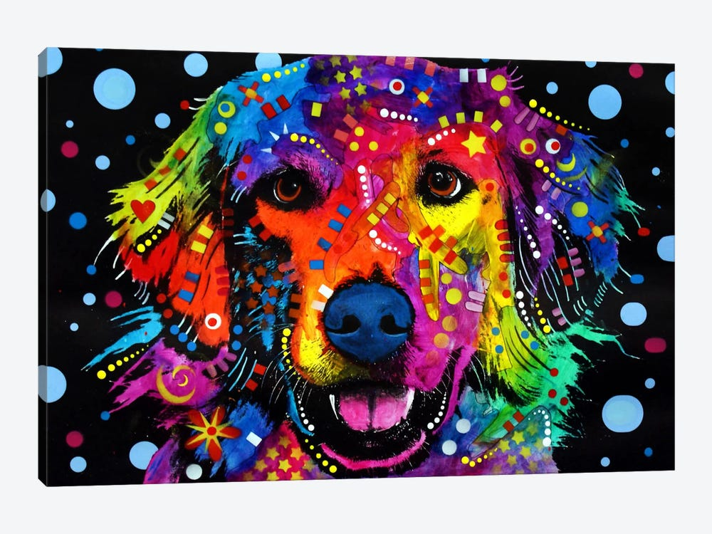 Golden Retriever by Dean Russo 1-piece Art Print