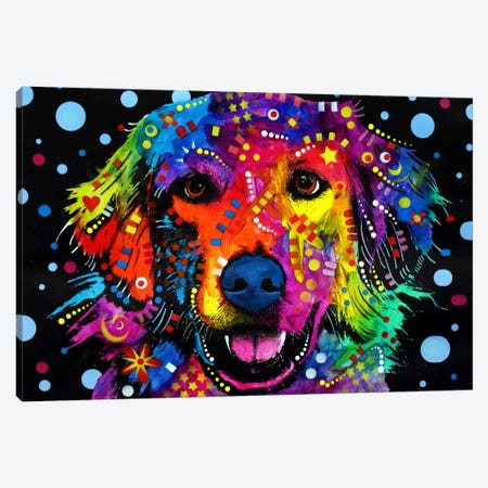 Golden Retriever 3-Piece Canvas #DRO17} by Dean Russo Canvas Wall Art