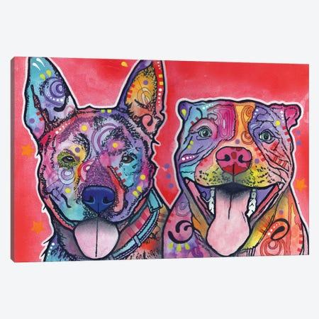 Latte & Hijiki Canvas Print #DRO181} by Dean Russo Canvas Wall Art