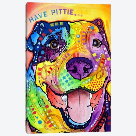 Have Pittie Canvas Print #DRO18} by Dean Russo Art Print
