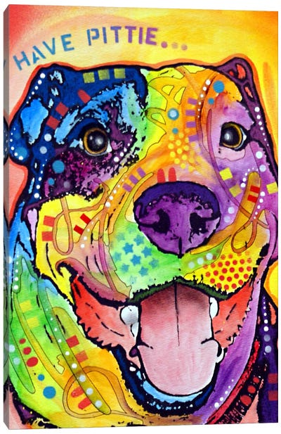 Have Pittie Canvas Art Print