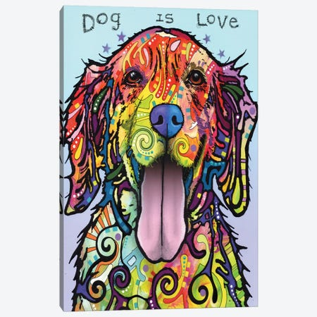 Dog Is Love Canvas Print #DRO192} by Dean Russo Canvas Art Print