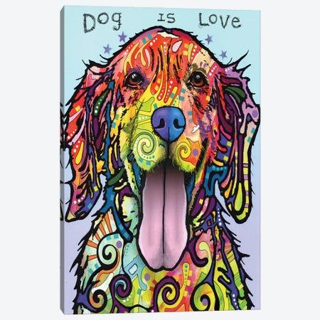 Dog Is Love Canvas Print #DRO192} by Dean Russo Canvas Art Print
