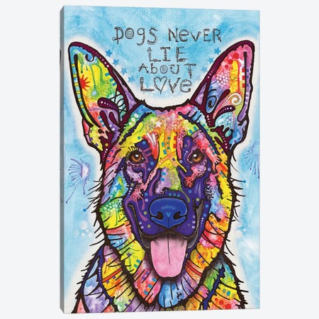 Dogs Never Lie About Love Canvas Print #DRO194} by Dean Russo Canvas Art