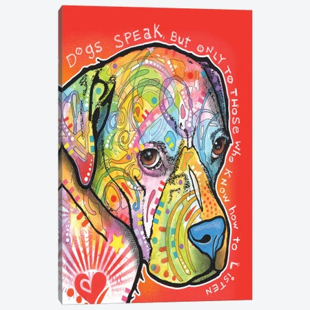 Dogs Speak Canvas Print #DRO195} by Dean Russo Canvas Artwork