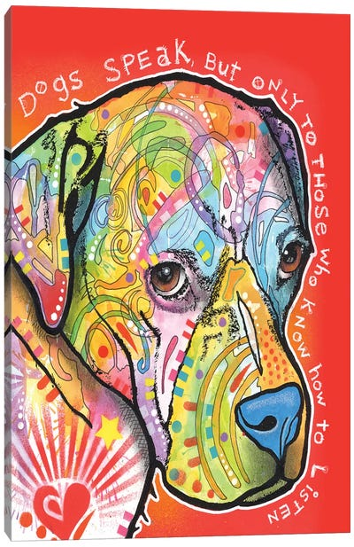 Dogs Speak Canvas Art Print