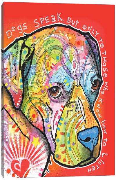 Dogs Speak Canvas Art Print