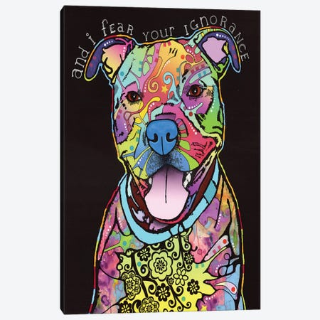 I Fear Your Ignorance Canvas Print #DRO196} by Dean Russo Canvas Wall Art
