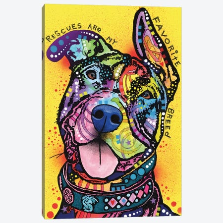 Rescues Are My Favorite Breed Canvas Print #DRO198} by Dean Russo Canvas Art Print