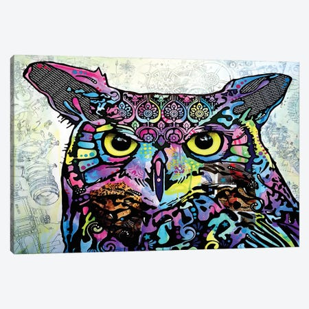 The Owl Canvas Print #DRO199} by Dean Russo Art Print