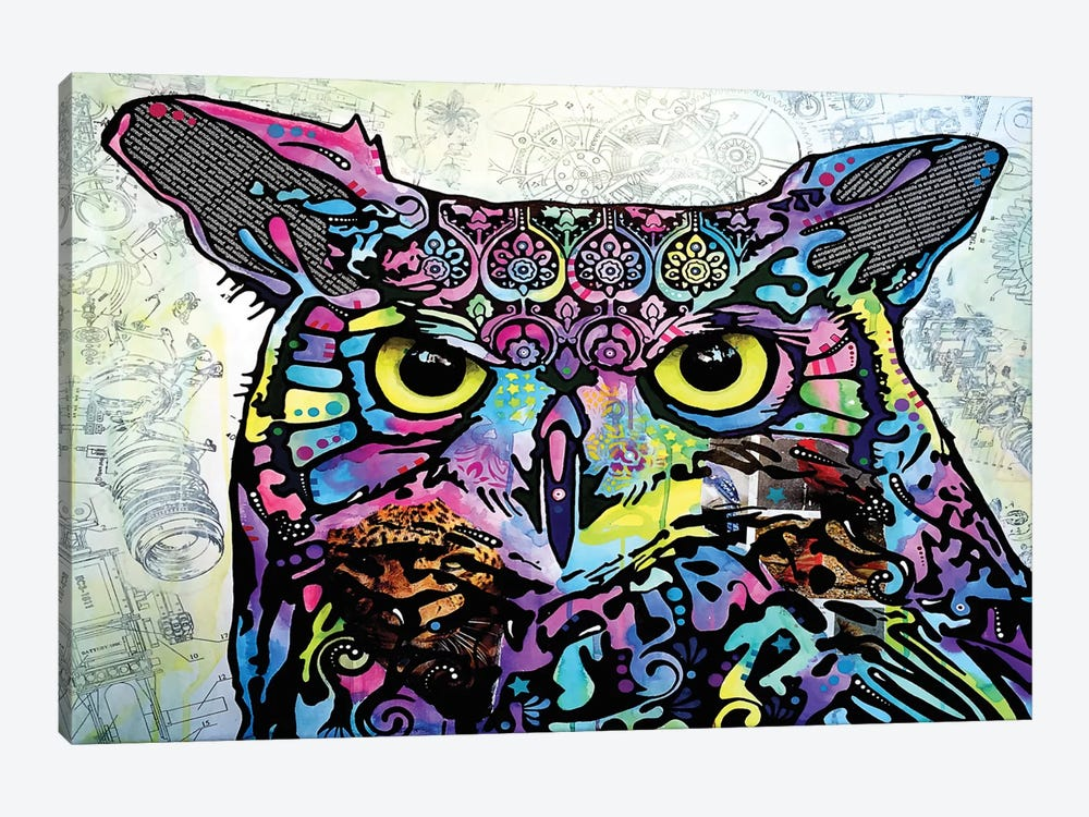 The Owl by Dean Russo 1-piece Canvas Artwork