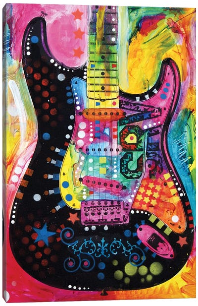Lenny Strat by Dean Russo Canvas Print