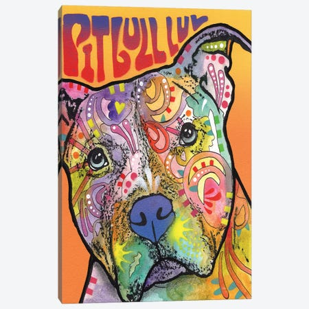 Pit Bull Luv Canvas Print #DRO204} by Dean Russo Canvas Artwork