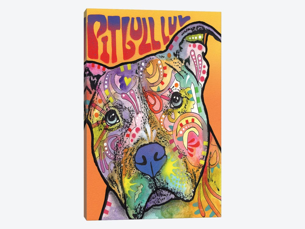 Pit Bull Luv by Dean Russo 1-piece Canvas Art
